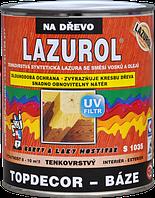 Тонкослойная синтетическая лазурь со смесью восков и масел LAZUROL TOPDECOR BÁZE S1035