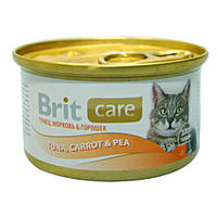 Brit Care Tuna, Carrot & Pea Тунец, морковь и горошек 80гр