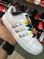 Женские Кроссовки Adidas Superstar Foundation белые
