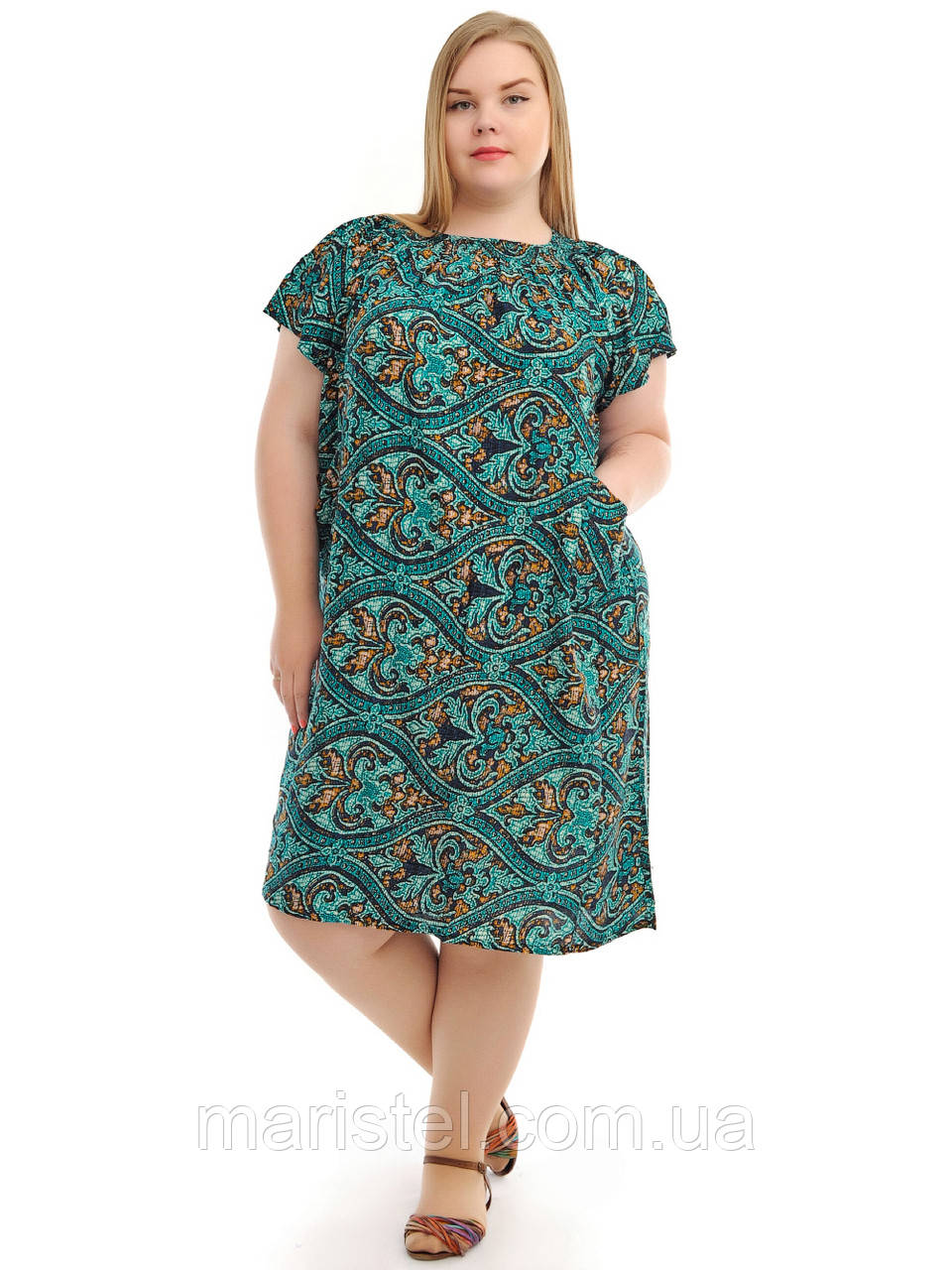 Летнее платье большого размера сшить