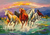 «Табун лошадей» картина маслом