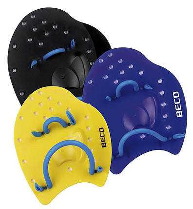 Лопатки для плавания р.S жёлтый Beco 96441, фото 2