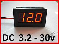 Цифровой вольтметр DC 3.2 - 30 вольт , 1 шт., фото 1