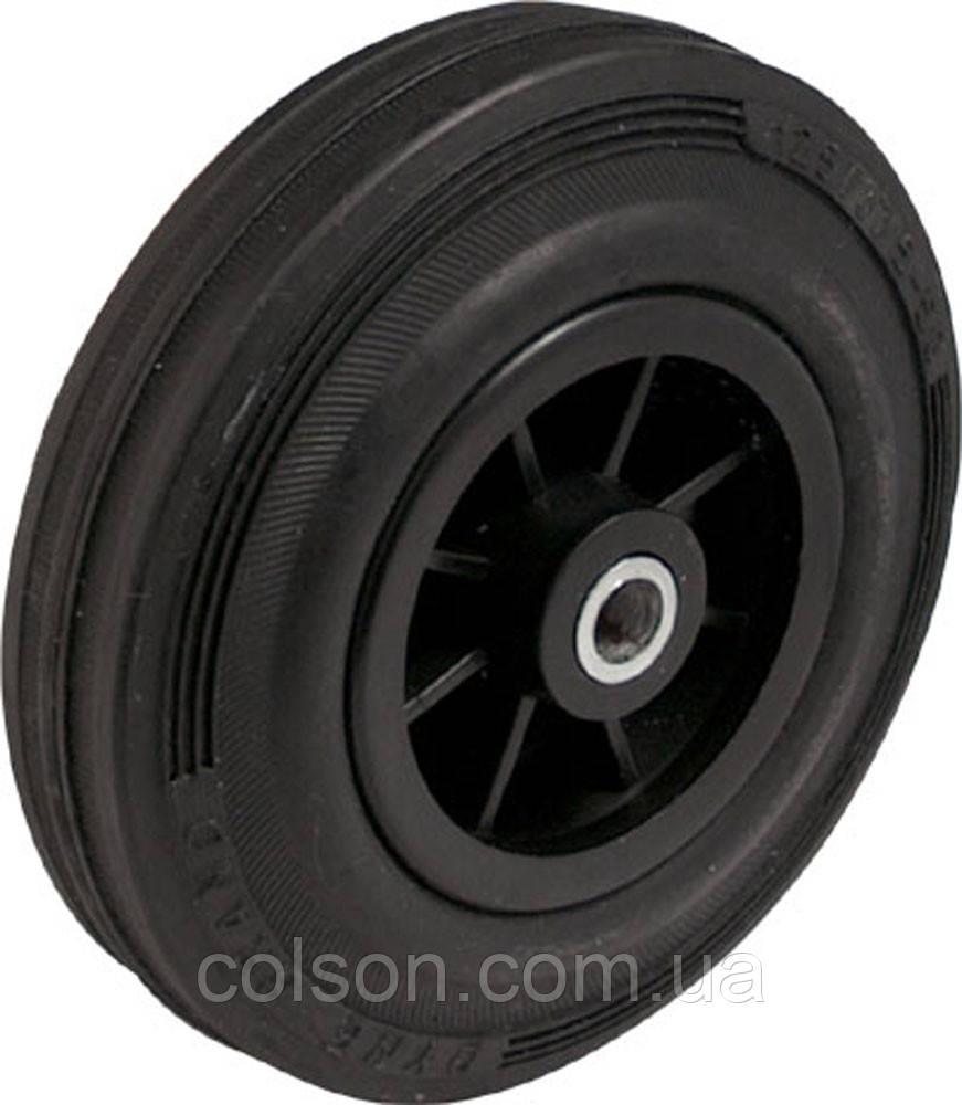 Колеса с черным резиновым протектором PM-серия пластиковые