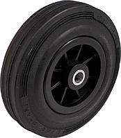 PM-серия пластиковые колеса с черным резиновым протектором