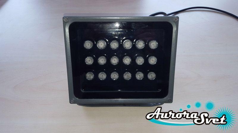 Прожектор светодиодный RGB 54W. Светодиодный светильник. Прожектор светодиодный.