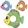 Круг надувной 36111, рыбка, 3 цвета, 81-76см