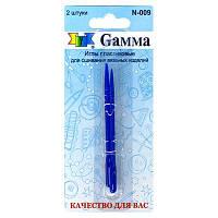 """Пластмассовые иглы """"Гамма"""" для вязаных изделий N-009 блистер 2 шт."""