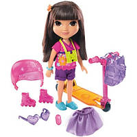 Fisher-Price Игровой набор Даша путешественница Прогулка на самокате Nickelodeon Dora and Friends Dora Loves Adventure Toy