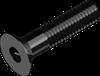 Винт М3х6 с потайной головкой с внутренним шестигранником кл. пр. 10.9 БП DIN 7991