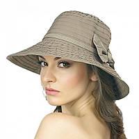 Шляпа Brezza с бантом сбоку коричневого цвета.
