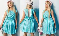 """Нарядное приталенное летнее платье """"Anfiisa"""" с кружевом на спине (7 цветов)"""