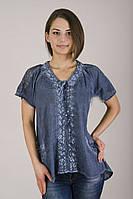 Модная блуза с ажурной вставкой