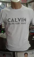 Футболка Новинка мужская модная молодежная Calvin Klein Jeans код № 6161
