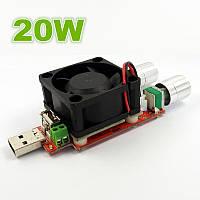 Регулируемая электронная нагрузка для USB тестера 20Вт  20В  4A