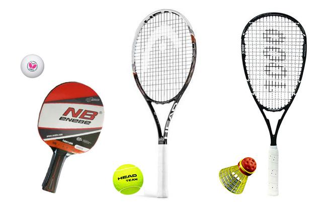 Большой теннис. Настольный теннис. Спидминтон