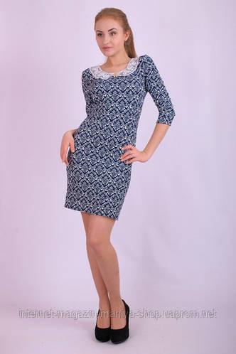 Платье женское с воротником