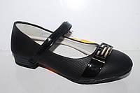 Туфли школьные на девочек от фирмы Clibee D384 черный (31-36)