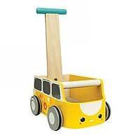 Plan Toys Деревянная игрушка Каталка фургон-жёлтая