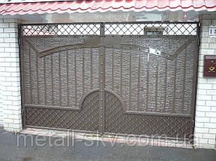Ворота жатые металлические Триумфальная арка