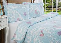 Комплект элитного постельного белья Arlina Blue 160*220.