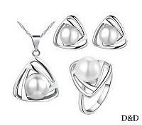 Комплект позолочений перли