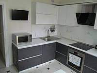 Современная кухня в серых тонах купить в Харькове, фото 1