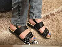 Модные силиконовые легкие босоножки ,черные