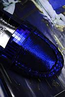 Босоножки сабо синие