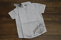 Котоновая рубашка для мальчиков 4- 6 лет