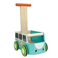 Plan Toys Деревянная игрушка Каталка фургон-голубая