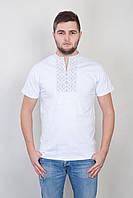 Мужская супер красивая футболка-вышиванка, национальная одежда, белая