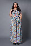 Платье голубая бирюза цветы