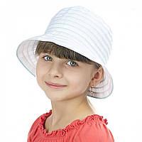 Шляпа Brezza детская  белая в лазурную полоску.
