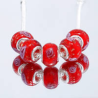 Мурано pandora бусина Red rose пандора