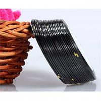 Лента-скотч для декора ногтей, черная узкая