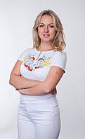 Женская футболка с вышивкой р 42-50 с калиной