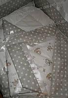 """Конверт на выписку, плед, одеяло на выписку новорожденного """"Птички"""", , фото 1"""