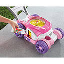 Каталка детская Фишер Прай Газонокосилка Мыльные пузыри Fisher Price Bubble Mower - Pink, фото 4
