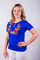 Женская футболка-вышиванка цвет синий