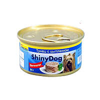 Gimpet (Джимпет) Shiny Dog Chicken & Tuna. Консервированный корм для собак с курицей и тунцом  85гр