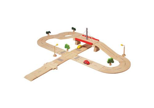 Plan Toys - Деревянная дорожная сеть (Deluxe)