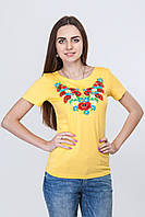 Женская футболка-вышиванка короткий рукав р 42,44,46,48,50