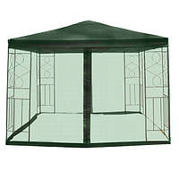 Садовый павильон  3x4 м зеленый