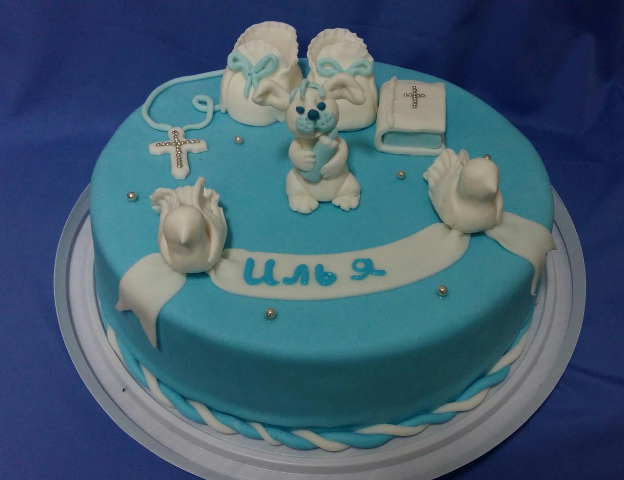 Торт на крестины малышу