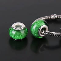 Бусина Искра green