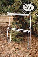 Стеллаж-7, подставка для цветов с креплениями для ламп любого размера на заказ, фото 1
