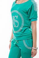 Брендовый турецкий гламурный спортивный костюм женский реглан Турция S M L XL XXL XXXL мятный, фото 1