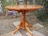 Стол круглый на одной ножке, фото 4