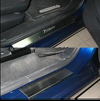 Накладки на пороги Citroen C4 Picasso 2006- 4шт. premium
